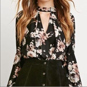 Floral Collar Flowy Blouse from Forever 21